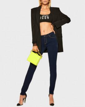 Guess Παντελόνι Jeans Curve - W0YAJ2D42I1 - ΜΠΛΕ