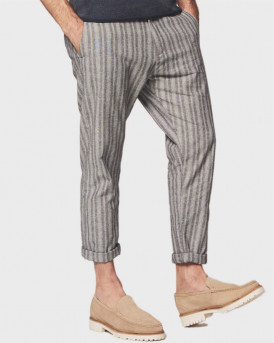 Dstrezzed Παντελόνι Chino Pants With Stripes - 501350 - ΓΚΡΙ