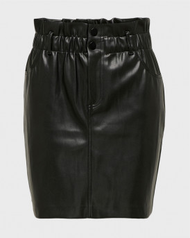 Only Φούστα Leather Look Skirt - 15206801