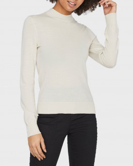 Only Πλεκτό Rib Knitted Pullover - 10233574 - ΕΚΡΟΥ