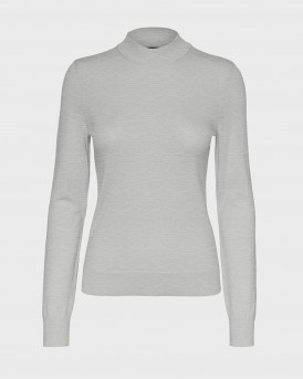 Only Πλεκτό Rib Knitted Pullover - 10233574 - ΓΚΡΙ