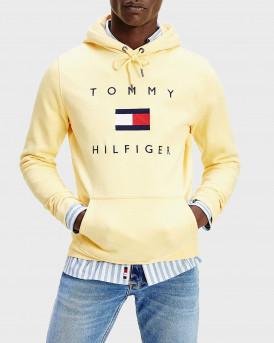 Tommy Hilfiger Φούτερ Flag Logo Cotton Blend Hoodie - MW0ΜW14203 - ΚΙΤΡΙΝΟ