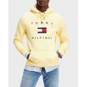 Tommy Hilfiger Φούτερ Flag Logo Cotton Blend Hoodie - MW0ΜW14203 - ΜΑΥΡΟ