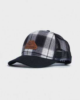 Superdry Καπέλο Vermont Trucker Cap - M9010076A - ΓΚΡΙ