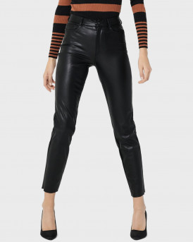 Only Παντελόνι PU Faux Leather Trousers - 15209293 - ΜΑΥΡΟ