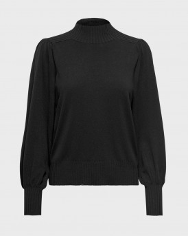 Only Πλεκτό Puffsleeve Pullover - 15210360 - ΜΑΥΡΟ