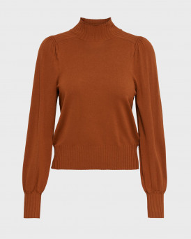 Only Πλεκτό Puffsleeve Pullover - 15210360 - ΚΕΡΑΜΙΔΙ