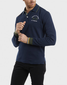 La Martina Polo Long Sleeve - QΜP300 JS169 - ΜΠΛΕ
