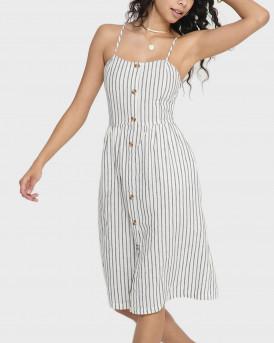 Only Φόρεμα Button-Up Striped Dress - 15178937 - ΑΣΠΡΟ