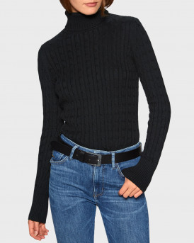Superdry Ζιβάγκο Croyde Cable Roll Neck - W6110058A - ΜΑΥΡΟ