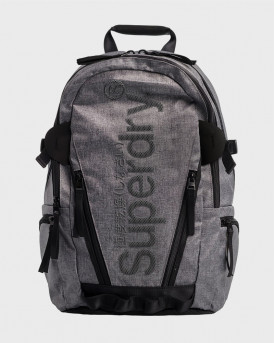 SUPERDRY COATED MARL TARP BACKPACK - Μ9110128A - ΓΚΡΙ