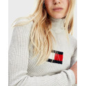 TOMMY HILFIGER ΠΛΕΚΤΟ ZIBAΓΚΟ CASHMERE BLEND SLIM ROLL NECK JUMPER - DW0DW08857 - ΜΑΥΡΟ