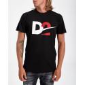 Dsquared2 D2 Print T-shirt - S74GD0728S21600 - ΜΑΥΡΟ