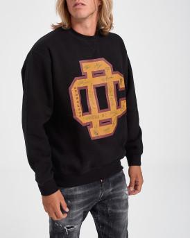 Dsquared2 Φούτερ Logo-Print Cotton Sweatshirt - S74GU0427S25476 - ΜΑΥΡΟ
