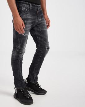 Dsquared2 Τζην Tidy Biker Jean, σε slim fit γραμμή - S74LB0827S30357 - ΜΑΥΡΟ