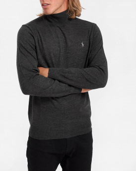 Polo Ralph Lauren Ζιβάγκο Rollneck Knitted Pullover - 710771090004 - ΑΝΘΡΑΚΙ