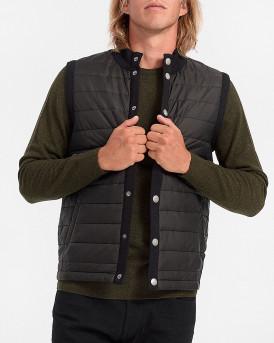 Barbour Γιλέκο Essential Vest - 3BRMKN0920 - ΜΑΥΡΟ