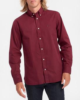 Tommy Hilfiger Πουκάμισο Classic Coral Shirt - MW0ΜW15690 - ΜΠΟΡΝΤΩ
