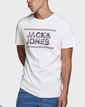 JACK & JONES T-SHIRT JCOSTAR - 12173062 - ΑΣΠΡΟ