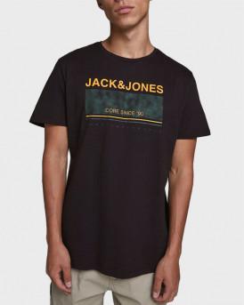 JACK & JONES T-SHIRT JCOSTAR - 12173062 - ΜΑΥΡΟ