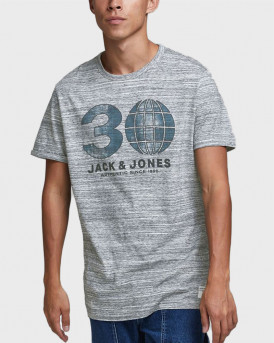 JACK & JONES T-SHIRT ORGANIC COTTON BLEND - 12177881 - ΓΚΡΙ