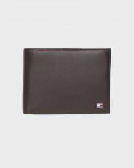 Tommy Hilfiger Πορτοφόλι Leather Flap Wallet - AM0AM00655 - ΚΑΦΕ