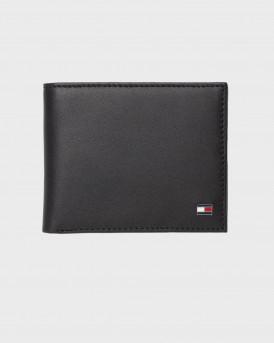 Tommy Hilfiger Πορτοφόλι Leather Flap Wallet - AM0AM00655 - ΜΑΥΡΟ