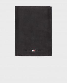 Tommy Hilfiger Πορτοφόλι Leather Flap Wallet - ΑM0AM00664 - ΜΑΥΡΟ