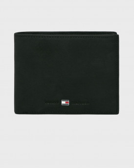 Tommy Hilfiger Πορτοφόλι Leather Flap Wallet - ΑΜ0AM00659 - ΜΑΥΡΟ