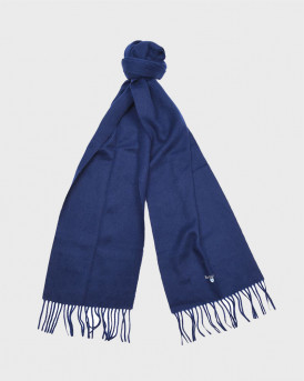 BARBOUR ΚΑΣΚΟΛ PLAIN LAMBSWOOL SCARF - 3BRUSC0008 - ΜΠΛΕ