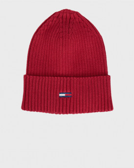 Tommy Hilfiger Σκούφος Ribbed Hat With Sparkling Flag - AW0AW08984 - ΜΠΟΡΝΤΩ
