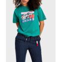 Tommy Hilfiger T-Shirt Cropped Signature Logo - DW0DW09070 - ΠΡΑΣΙΝΟ