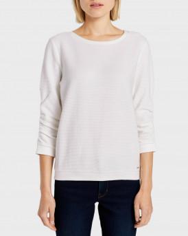Tom Tailor Πλεκτό Textured Sweatshirt - 1021114.XX.71 - ΑΣΠΡΟ