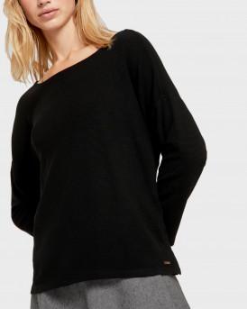 Tom Tailor Πλεκτό Textured Boxy Shirt - 1021109.XX.71 - ΜΑΥΡΟ