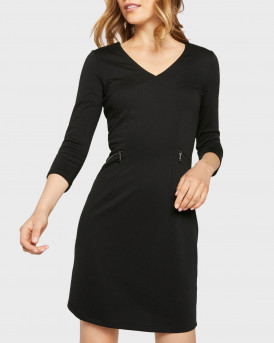 Tom Tailor Φόρεμα With Zip Details - 1021190.XX.70 - ΜΑΥΡΟ