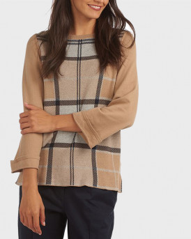 Barbour Πλεκτό Forth Sweater - 3BRLKN1037 - ΜΠΕΖ