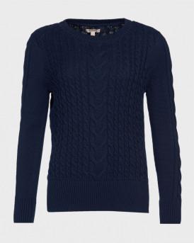 Barbour Πλεκτό Lewes Sweater - 3BRLKN1080 - ΜΠΛΕ