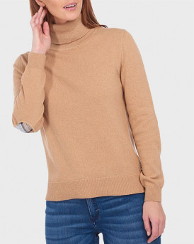 Barbour Πλεκτό Pendle Roll Collar Sweater - 3BRLKN1077 - ΜΠΕΖ