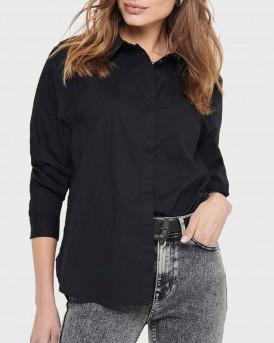 Only Πουκάμισο Classic Shirt - 15209877 - ΜΑΥΡΟ