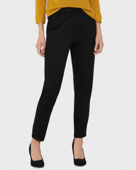 Only Παντελόνι Poptrash Faux Suede Trousers - 15214015 - ΜΑΥΡΟ