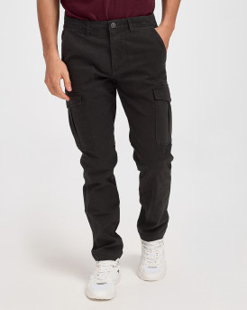 Jack & Jones Παντελόνι Roy Joe AKM 1028 Cargo Trousers - 12174185 - ΜΑΥΡΟ