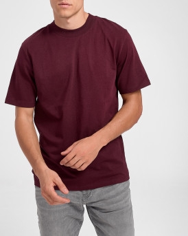 Selected T-shirt With Mock Neck - 16075233 - ΜΠΟΡΝΤΩ