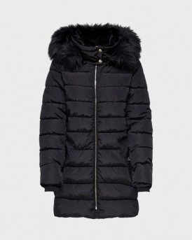 ONLY ΜΠΟΥΦΑΝ CAMILLA QUILTED COAT - 15204606 - ΜΑΥΡΟ