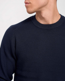 Selected Πλεκτό Simple Knitted Jumper - 16074692 - ΜΠΛΕ