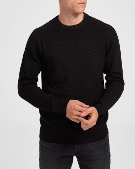 Selected Πλεκτό Simple Knitted Jumper - 16074692 - ΜΑΥΡΟ