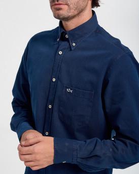Paul & Shark Shirt With Pocket - C0P3002 - ΜΠΛΕ