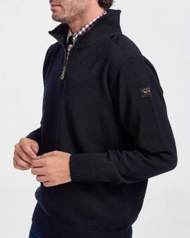Paul & Shark Πλεκτό High Neck Knitted Pullover - C0P1033 - ΜΠΛΕ
