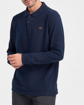 PAUL & SHARK ΠΟΛΟ ORGANIC PIQUE COTTON POLO SHIRT - C0P1001 - ΜΠΛΕ