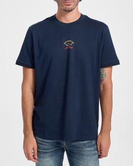 Paul & Shark Logo T-Shirt - C0P1096 - ΜΠΛΕ
