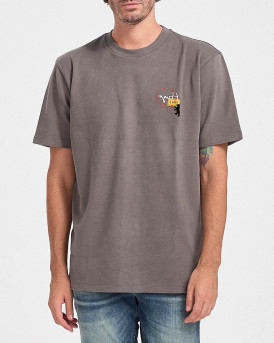 Boss T-Shirt With Photographic Print - 50438764 DUNITY - ΓΚΡΙ